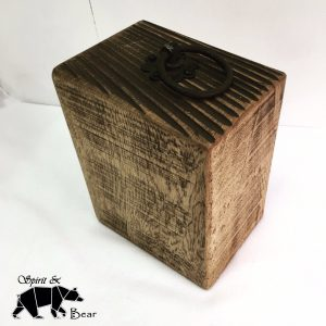 Large industrial solid oak rustic door stop