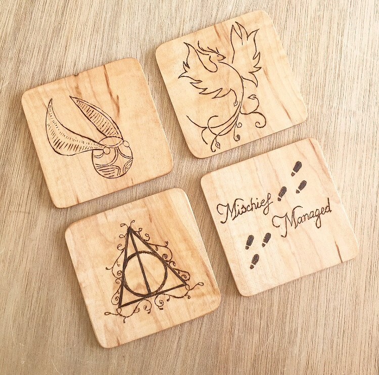 custom wooden drinks coasters