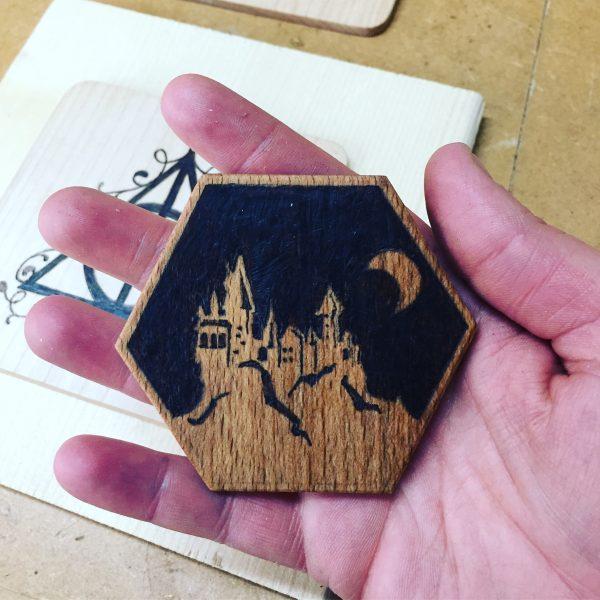 Wizards castle fridge magnet