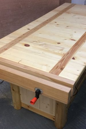 Homemade woodwork bench vise