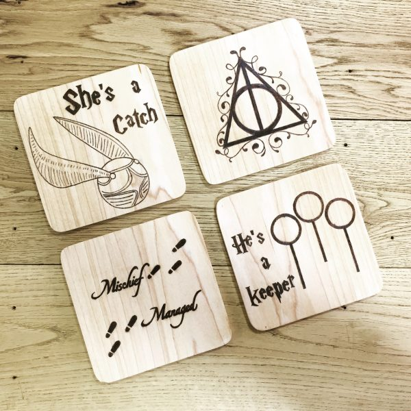 wizard drinks coasters